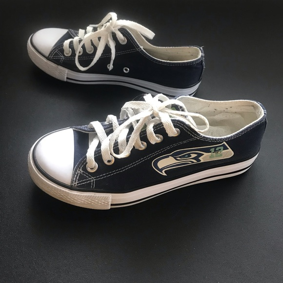 f6f254c52efc Converse Shoes - NFL Seattle Seahawks Navy Converse